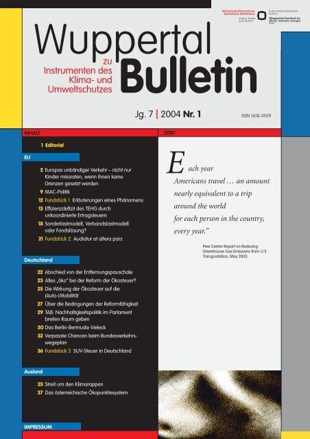 WB_2004-1.pdf - Wuppertal Institut für Klima, Umwelt, Energie