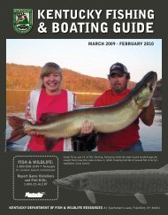 boating guide - Kentucky Department of Fish and Wildlife Resources