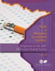 2009 Youth in Correctional Facilities Report - Minnesota State ...