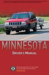 driver's manual driver's manual - Minnesota State Legislature