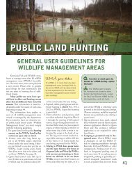 PUBLIC LAND HUNTING - Kentucky Department of Fish and Wildlife ...