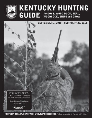 kentucky hunting guide - Kentucky Department of Fish and Wildlife ...