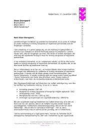 Brev til Steen Skovsgaard - Landsforeningen for bøsser og lesbiske