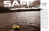 Safe Waterfowl Hunting - National Association of State Boating Law ...