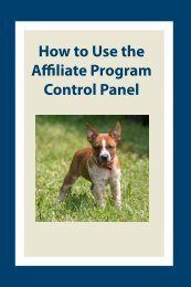 How to Use the Affiliate Program Control Panel - Leerburg ...