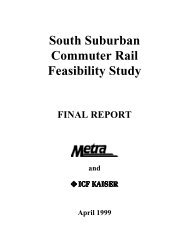 South Suburban Commuter Rail Feasibility Study - Metra Connects