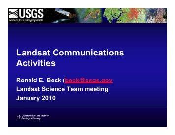 Landsat Communications Activities