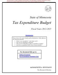 2008 Tax Expenditure Report - Minnesota State Legislature