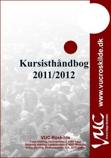 Kursisthåndbog 2011/2012 - VUC Roskilde