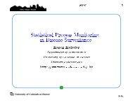 Statistical Process Monitoring in Disease Surveillance - Dimacs