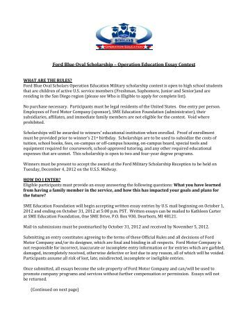 Scholarships essays 2013