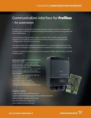 Communication interface for Profibus - Energy-efficient pumps for ...