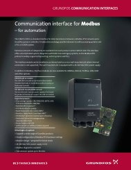 Communication interface for Modbus - Energy-efficient pumps for ...