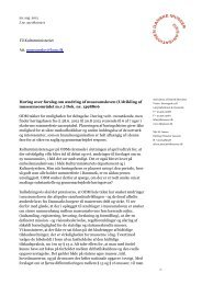 Forslag om ændring af museumsloven - Organisationen Danske ...