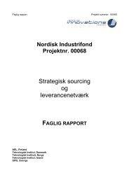 Strategisk sourcing og leverancenetværk - Nordic Innovation