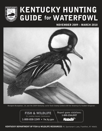 Kentucky Hunting Guide for Waterfowl - Kentucky Department of ...