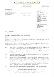 Advokat August Jørgensen, for Knud Nielsen A/S og Søren Due ...