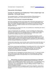 Naturparken Mols Bjerge Forslag om regulering af et fællesareal i ...