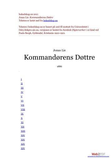 bokselskap.no 2011 Jonas Lie: Kommandørens Døttre