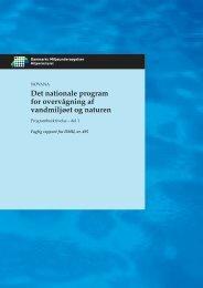 Det nationale program for overvågning af vandmiljøet og naturen ...