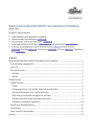 Afrapportering 2012 - imodus