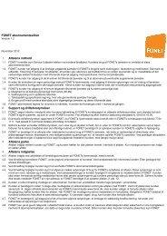 FONET abonnementsvilkår Aftalens indhold Support og ...