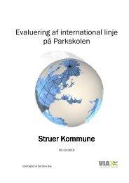 Evaluering af international linje på Parkskolen Struer Kommune ...