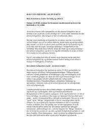 Hans Kristensens oplæg - Center for Boligforskning
