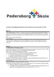 Referat af møde 22.2.2012 - Pedersborg Skole