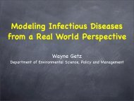 Modeling Infectious Diseases from a Real World ... - DIMACS