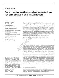 Data Transformations and Representations - Intuidex