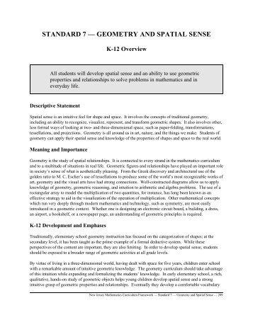 Standard 7 - Geometry and Spatial Sense - Dimacs