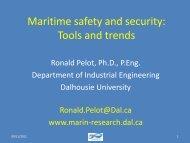 Maritime Traffic Modeling for Risk Assessment and ... - DIMACS