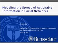 Modeling the Spread of Actionable Information in Social ... - DIMACS