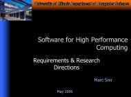 Software for High Performance Computing