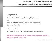 Circular chromatic number of hexagonal chains with ... - DIMACS