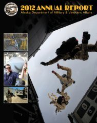 2012 Annual Report - Alaska - Department of Military and Veterans ...