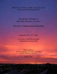 Workshop on Facing the Challenge of Infectious Diseases ... - DIMACS