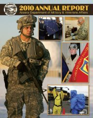 2010 Annual Report - Alaska - Department of Military and Veterans ...