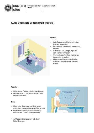 checkliste b ro und bildschirmarbeitspl tze. Black Bedroom Furniture Sets. Home Design Ideas