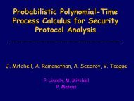 Probabilistic Polynomial-Time Process Calculus for ... - DIMACS