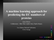 A machine learning approach for predicting the EC ... - DIMACS