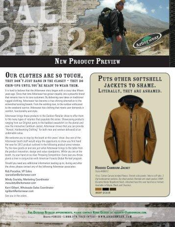 Arborwear 2012 Media Kit
