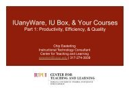 IUanyWare, IU Box, & Your Courses - Center for Teaching and ...