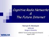 ARIB Cognitive Radio talk - Dimacs