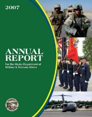 2007 Annual Report - Alaska - Department of Military and Veterans ...