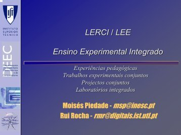 LERCI / LEE Ensino Experimental Integrado