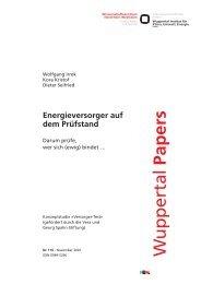 WP116.pdf - Wuppertal Institut für Klima, Umwelt, Energie