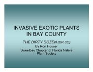 INVASIVE EXOTIC PLANTS IN BAY COUNTY - Lake Sands District