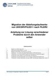 Migration der Abteilungsordner & Anleitung zur Problemlösung